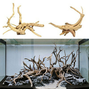 Natural Tree Trunk Driftwood Aquarium Fish Tank Reptile Cylinder Making Roots Plant Wood Decoration Ornament image