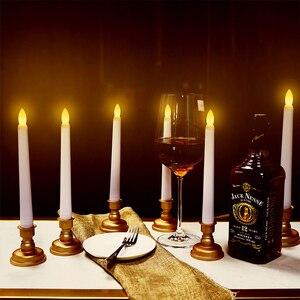 Bougies de nouvel an à distance Led à piles lumières de thé sans flamme avec des bougies d'oscillation anniversaire à la maison/mariage/Décor de noël