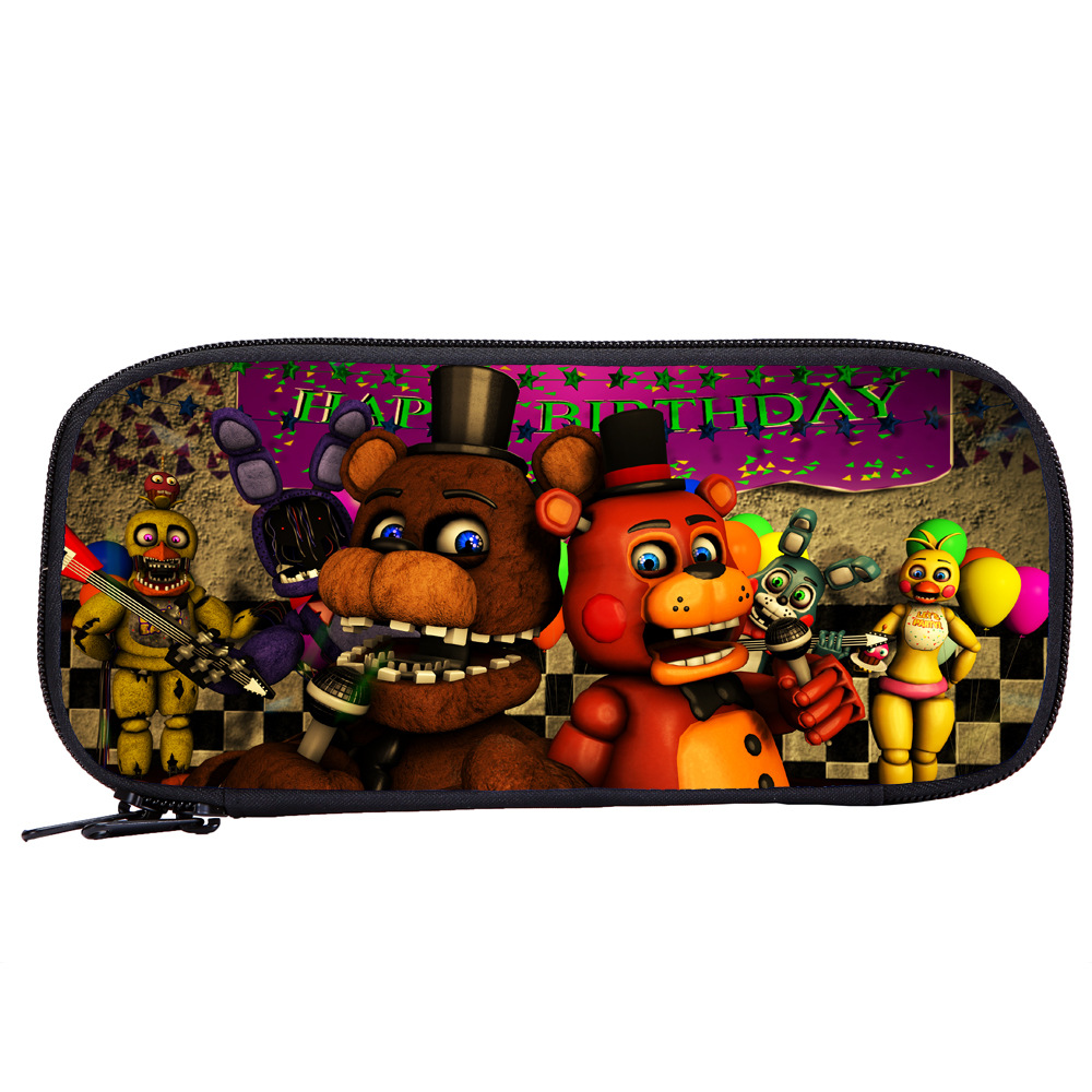 Action Figures Pen-Case Pencil-Bag Freddy's Christmas-Gift FNAF Five-Nights Toys School-Stationery