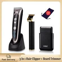 Shaver Beard-Trimmer-Kit Cutting-Machine Electric-Hair-Clipper Rechargeable Men Haircut