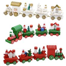 DIY Decorations For Home New Year deco Noel gift for kids Christmas Decoration Gift Christmas Train Holiday Gift Decoration(China)