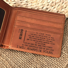 Mens Wallet - RFID Blocking Cowhide Leather Vintage Bi-fold in Wood Gift Box