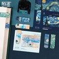 EINE galerie serie Magnetische Lesezeichen Van Gogh starry sky Bücher Marker von Seite Schreibwaren Schule Bürobedarf Student geschenk