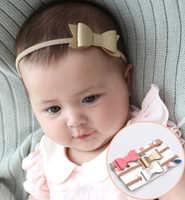Bébé filles bandeau mode cuir noeud noeud infantile fille pansement enfants bambins tête enveloppement bandeau cheveux infantile vêtements accessoires