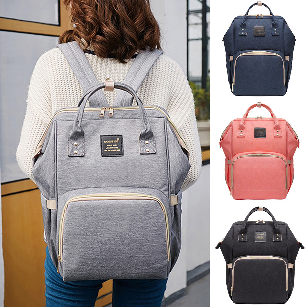 Fashion New Nappy Backpack Bag Mummy Large Capacity Bag Mom Baby Multi-function Waterproof Outdoor Travel Diaper Bags