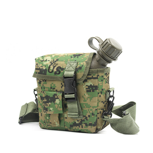 Image 2 - 2L Outdoor Use Camping Hiking Hunting Climbing Tableware Kettle Army Camouflage Drinking Bottle Military Tactical Water Bottles