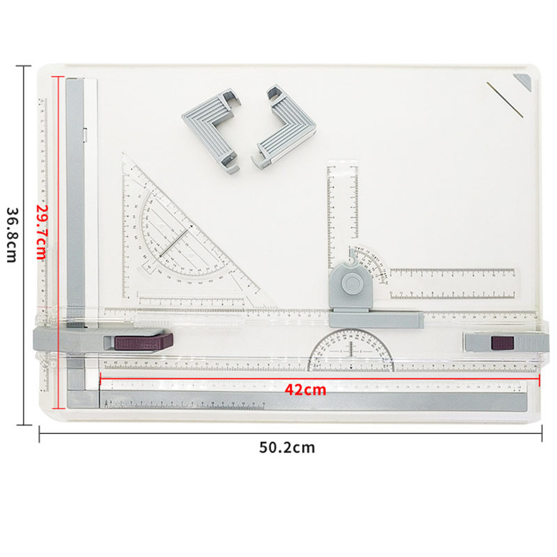 Professional A3 Drawing Table Technical Board With Drawing Head Machine Drafting Supplies GY88