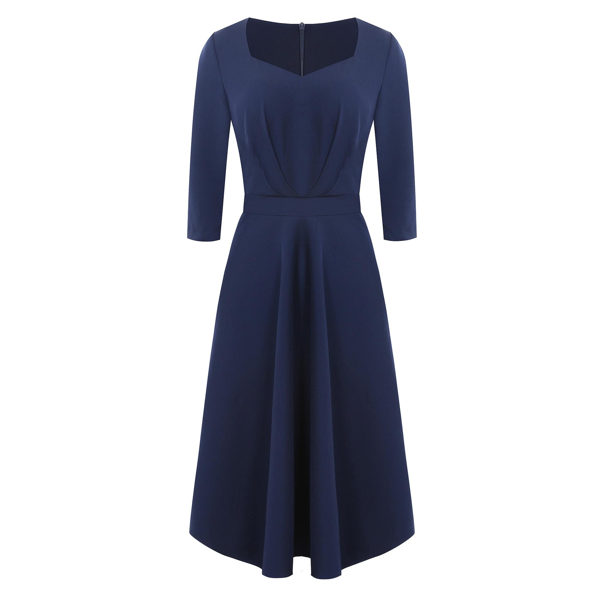 WOMEN'S Dress Autumn And Winter New Style Hepburn Wind Retro Cocktail Will Formal High Waist Dress