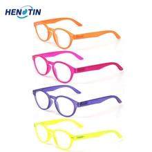 Gafas de lectura con bisagra de resorte para hombres y mujeres, anteojos de lectura con montura ovalada de colores, de calidad, 0,5 a 6,0, 4 unidades