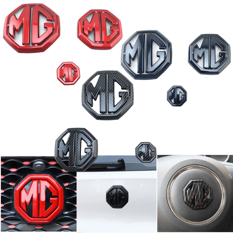 For MG 6 MG ZS Car Rear Emblem Grille Sticker Steering Wheel Badge Styling 3Pcs/Set High Grade Decals Exterior Decoration|Car Stickers| |  - title=