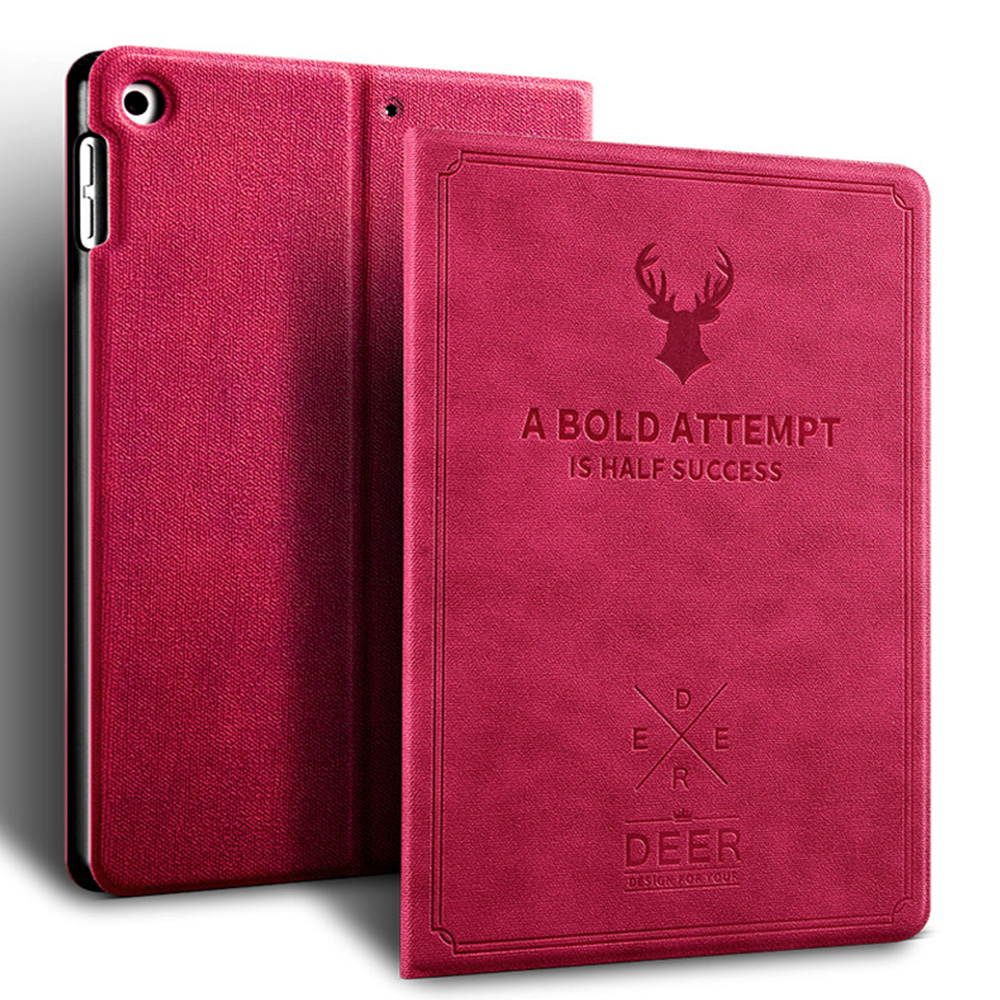 Rose Red Rose Red Retro Deer Pattern style Case For iPad Air 4 10 9 2020 A2324 A2072 cover For