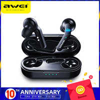 Оригинальные AWEI T10C TWS беспроводные Bluetooth наушники, наушники с управлением, гарнитура, свободные руки, настоящие беспроводные наушники для ...
