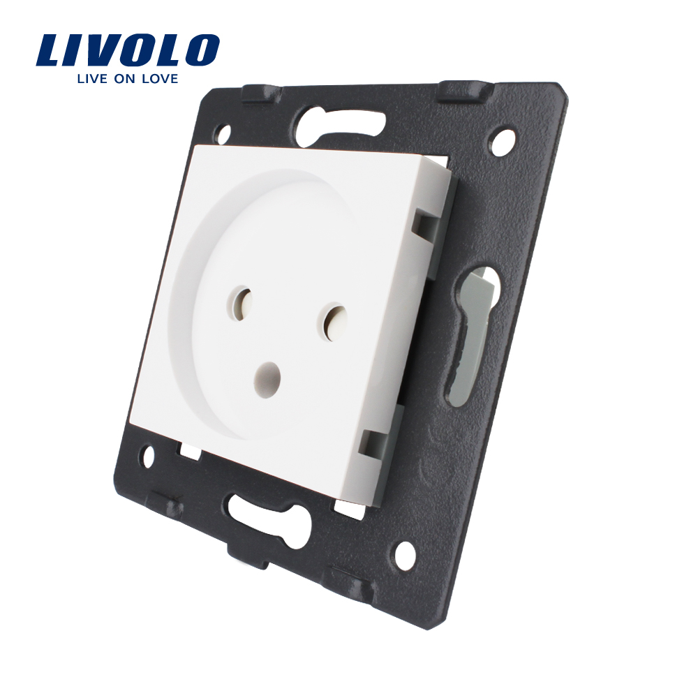 Livolo DIY Parts,Standard Israel Power Socket,Swizss Plugs, US UK Socket, Reset Switch Wall Power Socket, No Glass Panel,white