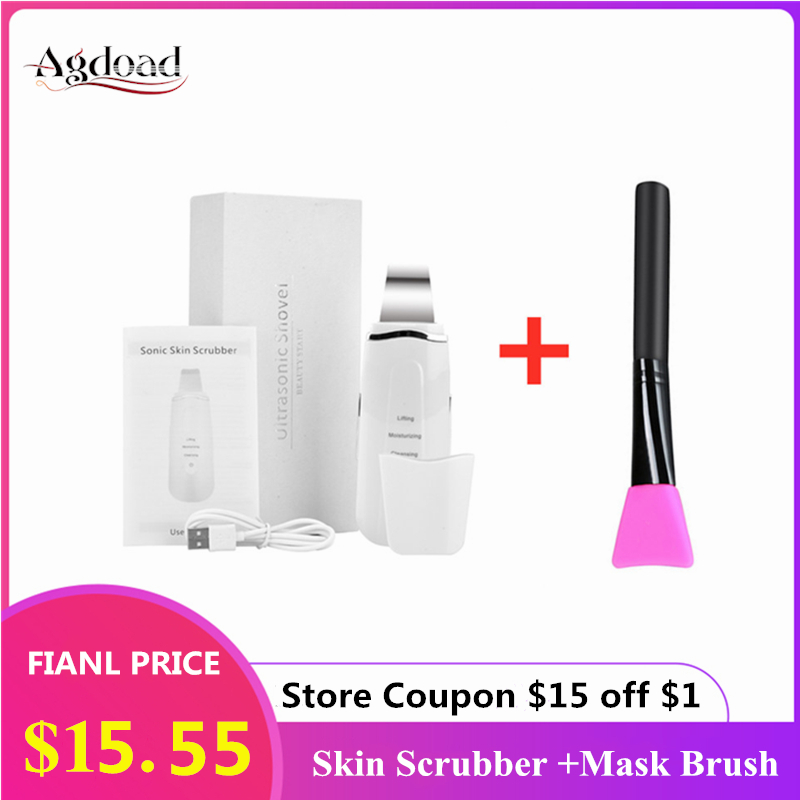Ultrasonic Face Skin Scrubber Facial Cleaner Peeling Vibration Blackhead Removal Exfoliating Pore Cleaner Tools Skin Care Beauty|Face Skin Care Machine|   - AliExpress