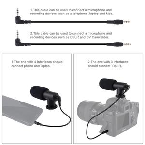 Image 3 - PULUZ 3.5mm Audio Stereo Filmmaking Recoding Photography Interview Microphone for Vlogging Video DSLR &DV For iphone,Smartphones