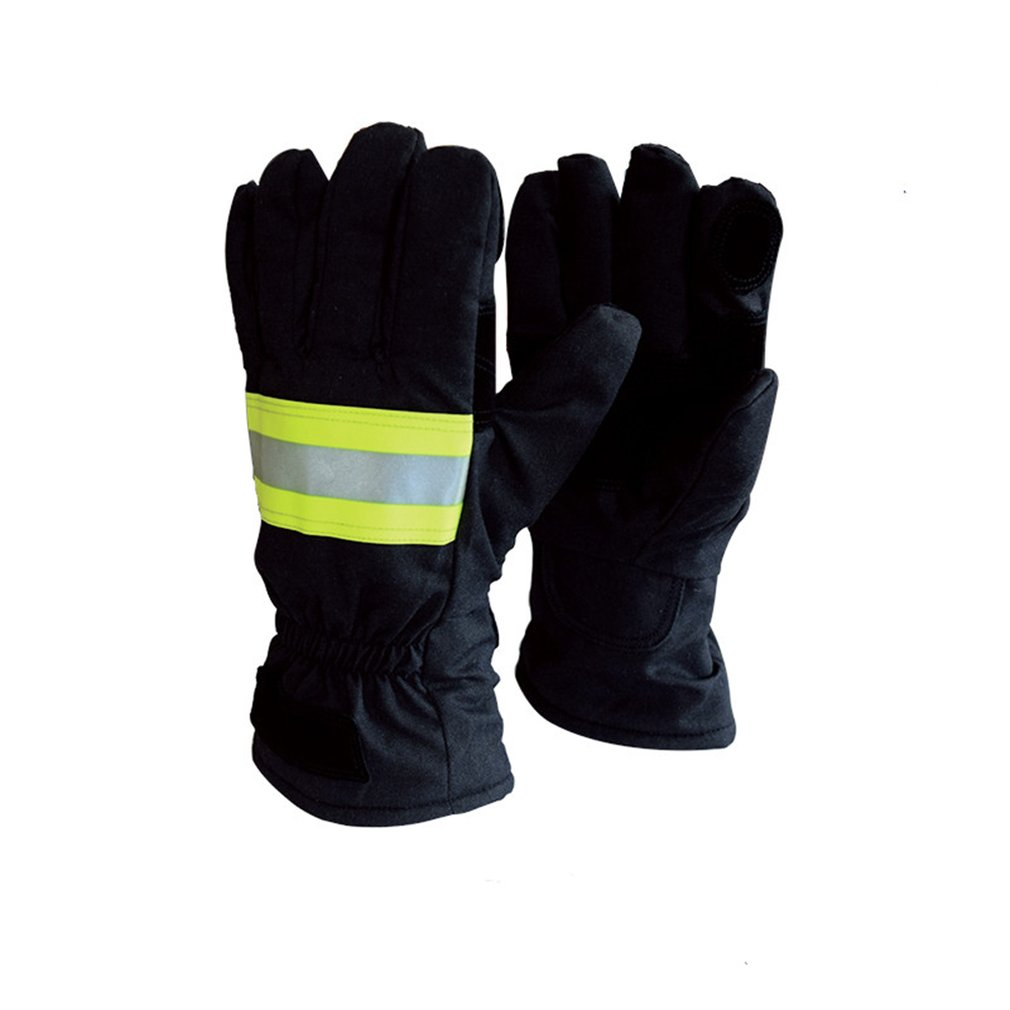 Fire Gloves Firefighters Fire Protection Gloves Standard 14 Firefighters Hand Flame Retardant Waterproof Breathable