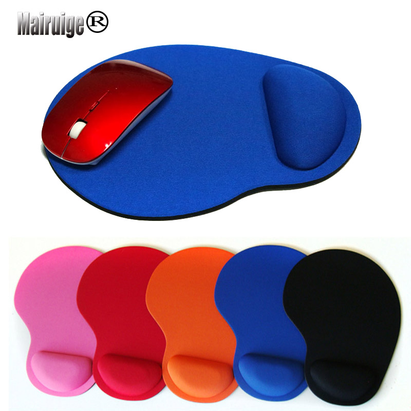 Mairuige New Wrist Protect Optical Trackball PC Thicken Mouse Pad Support Wrist Comfort Mat Mice Laptop Gaming Mousepad 8 Colors