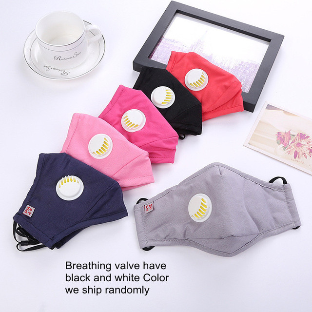 PM2.5 Cotton Black Color mouth Mask anti dust Activated carbon filter Windproof Mouth-muffle bacteria proof Flu masks 5