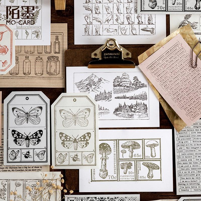 Vintage Painting Animal Flower Letter Decoration Stamp Sponge Rubber Stamps For Scrapbooking Stationery DIY Craft Standard Stamp