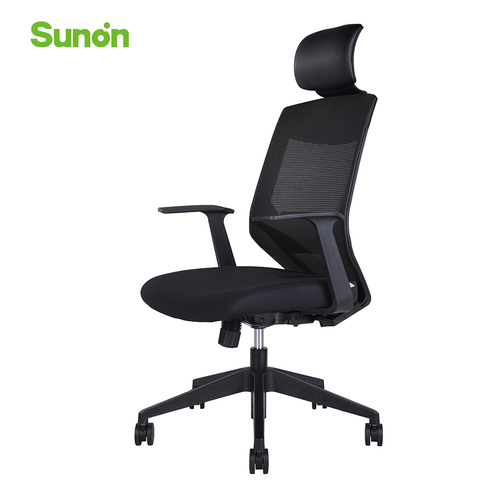 Hot Sale Mesh Arm Chair With Headrest Lift Up Gaming Chair New Staff Chairs Computer Chair Fabric Office Furniture For Cafe