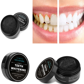Activated Charcoal Natural Teeth Whitener Brighter Teeth Whitening Charcoal Powder Proven No Hurt on Enamel, 30g фото