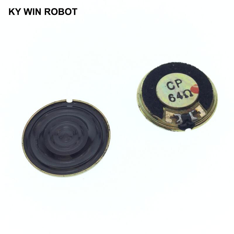 2pcs/lot New Ultra-thin Mini Speaker 64 Ohms 0.5 Watt 0.5W 64R Speaker Diameter 20MM 2CM Thickness 3MM