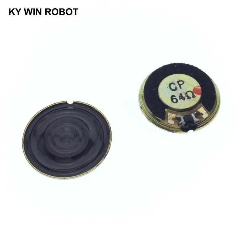2pcs/lot New Ultra-thin Mini Speaker 64 Ohms 0.5 Watt 0.5W 64R Speaker Diameter 20MM 2CM Thickness 3MM