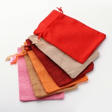 9.5*13.5cm Linen Drawstring bags jewelry pouch Christmas wedding gifts drawstring bag packing 30pcs Jewellery