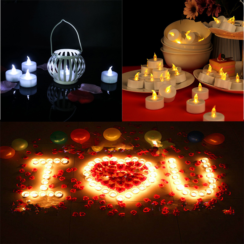 6pcs LED Glow In The Dark Candles Householed Velas Led Battery-Powered Flameless Candles Home Decoartion Toys For Children