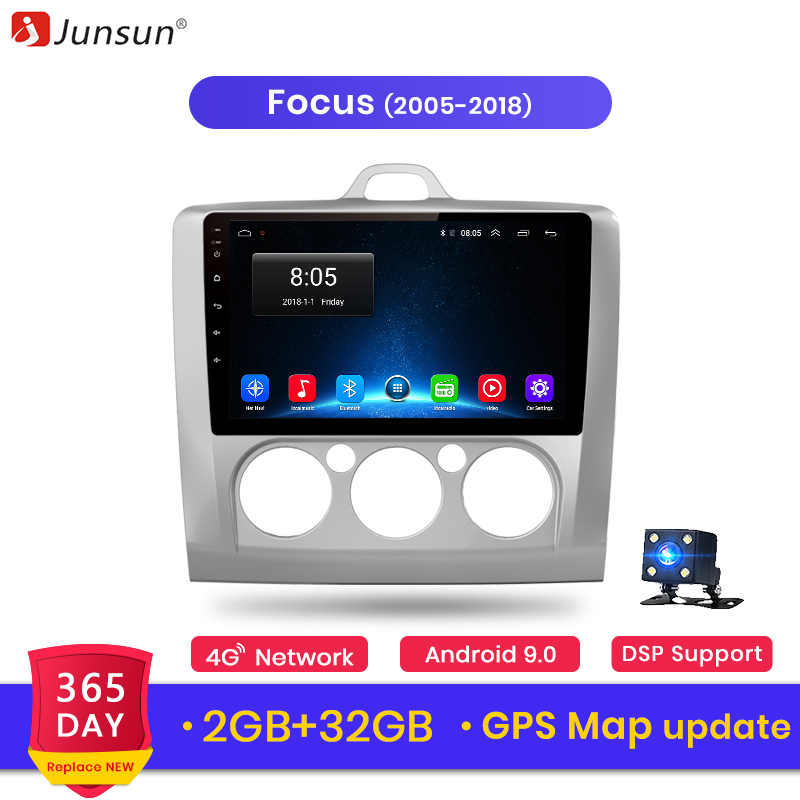 Junsun V1 2G + 32G Android 9,0 DSP auto Radio Multimedia Video Player navegación GPS para ford focus 2 3 Mk2/Mk3 hatchback 2 din DVD