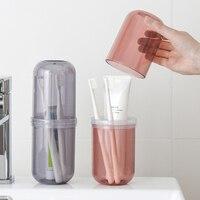 Tragbare Wash Tasse Set Im Freien Reise Camping Zahnbürste Lagerung Organizer Fall Bad Zubehör Mundwasser Tasse Dental-Kit