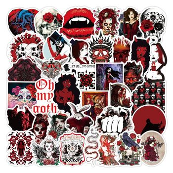 Retro style Gothic series dull-red graffiti stickers Toy For Car Styling Bike Laptop Waterproof Sticker Bomb Jdm decals image