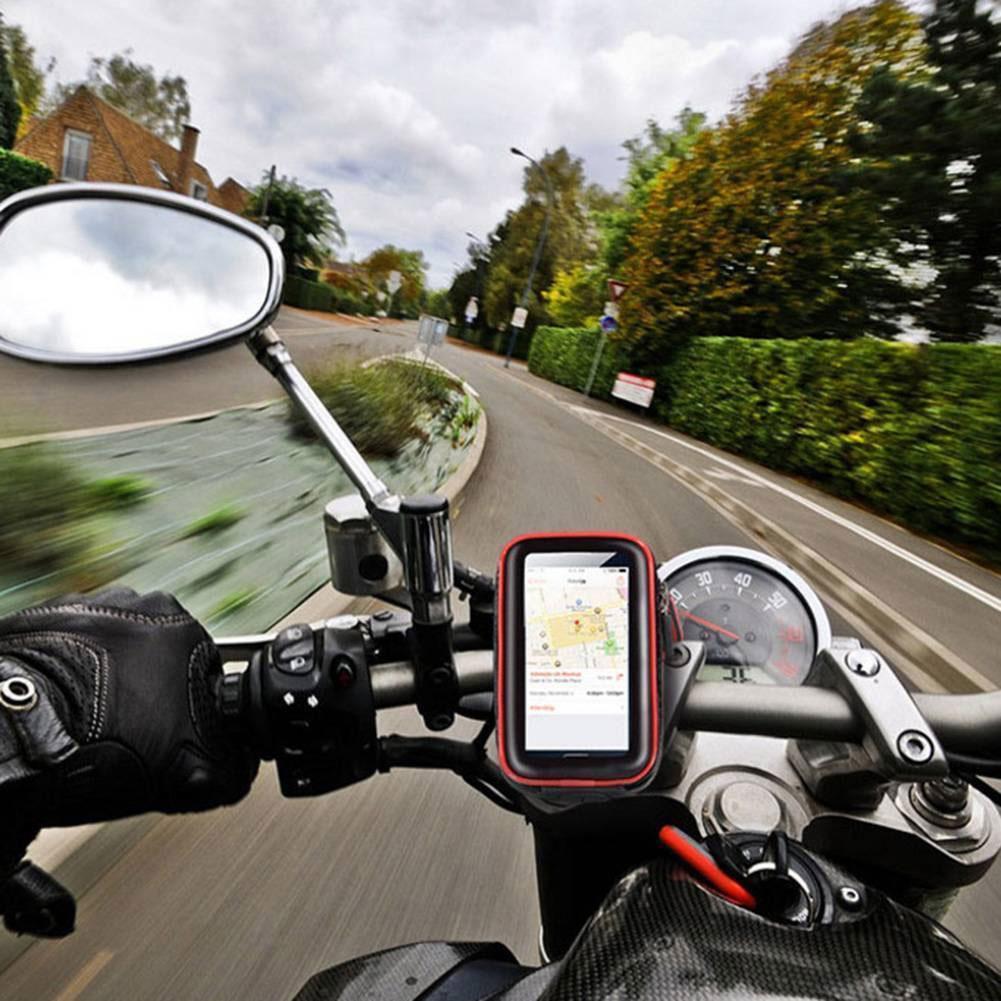 Universal Transparent Waterproof Motorbike Motorcycle Mobile Phone Mount Holder Phone Bag