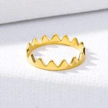 Треугольные кольца золотого цвета для женщин и девушек модные