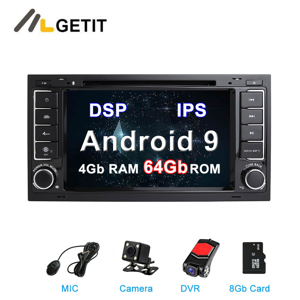 64G ROM DSP IPS Android 9 Car DVD Stereo Player For Volkswagen VW Touareg T5 Multivan Transporter With Radio WiFi BT GPS
