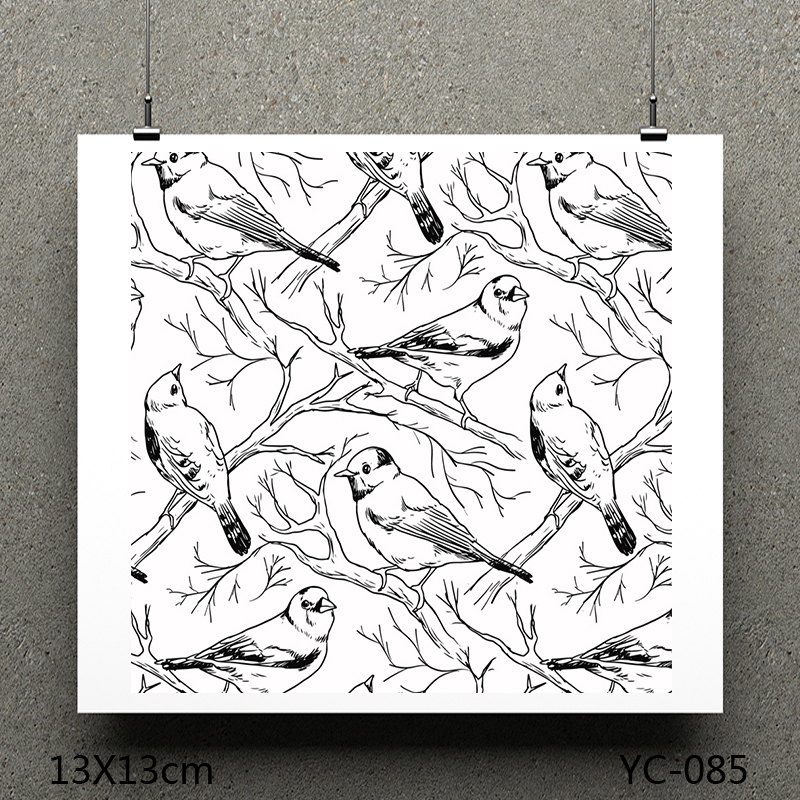 ZhuoAng Group of birds model Clear Stamps For DIY Scrapbooking/Card Making Decorative Silicon Stamp Crafts