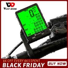 "Batı bisiklet 2.8 ""büyük ekran bisiklet bilgisayar kablosuz kablolu bisiklet bilgisayar su geçirmez kilometre kilometre sayacı bisiklet kronometre"