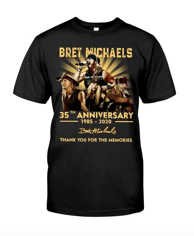 Obrigado do aniversário de bret michaels 35th você para o presente da camiseta das memórias