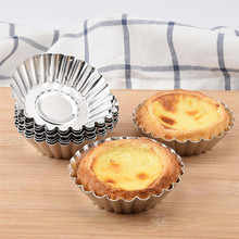 50pcs/set Egg Tart Aluminum Cupcake Cake Cookie Mold Tin Baking Tool Baking Cups Mold Cookie Pudding Mould Baking Tools 26 english alphabet cookie mold set baking tools