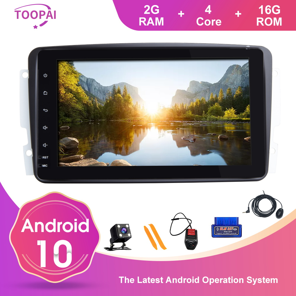 TOOPAI Android 9.0 Car Radio for Mercedes Benz E-Class W211 CLS W219 Car Stereo GPS Navigation Car Multi Media Player with 7 Inch Touch Screen Support Screen Mirror WiFi OBD2 SWC