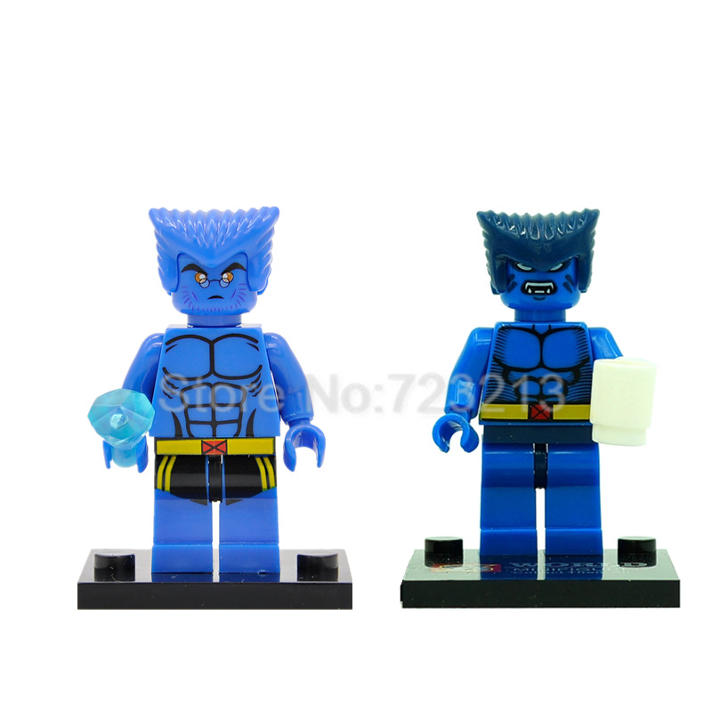 Marvel X-Men Beast Super Hero Building Blocks Single Sale Superhero Illuminati Sets Model XH364 Toys For Children Gifts Legoing