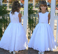A Line Kid Baby Girls Lace Long Dress Wedding Party Dresses Princess Dresses Children Baby Girl Clothing