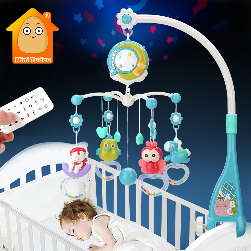 Baby Mobile Rattles Toys 0-12 Months For Baby Newborn Crib Bed Bell Toddler Rattles Carousel For Cots Kids Musical Toy Gift