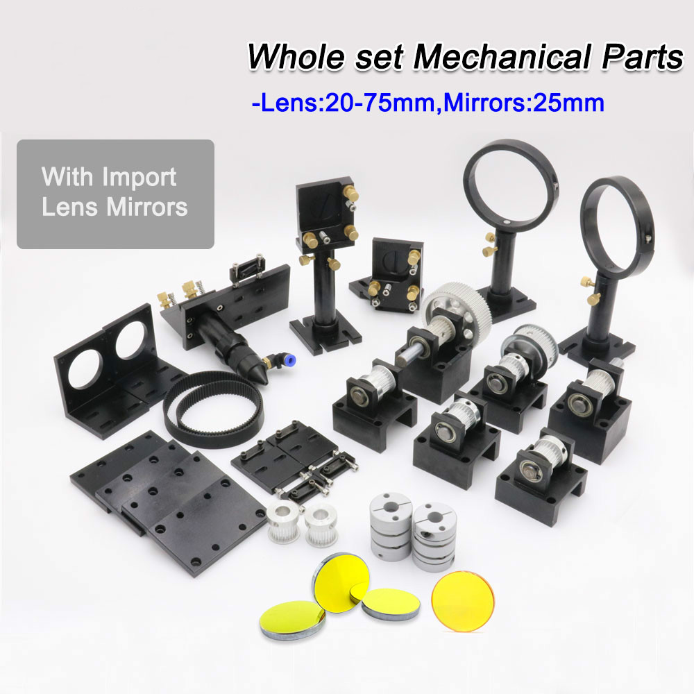 Co2 Laser Parts For DIY CO2 Laser Machine With ZnSe Focus Lens 20-75mm & Mirror 25MM