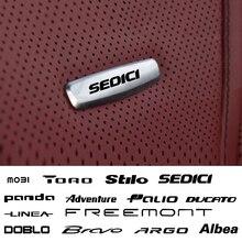 Детское кресло для автомобиля Стикеры переднего сиденья тюнинг значки металла для fiat multipla UNO Торо TIPO Stilo Siena SEDICI PUNTO PANDA Моби LINEA