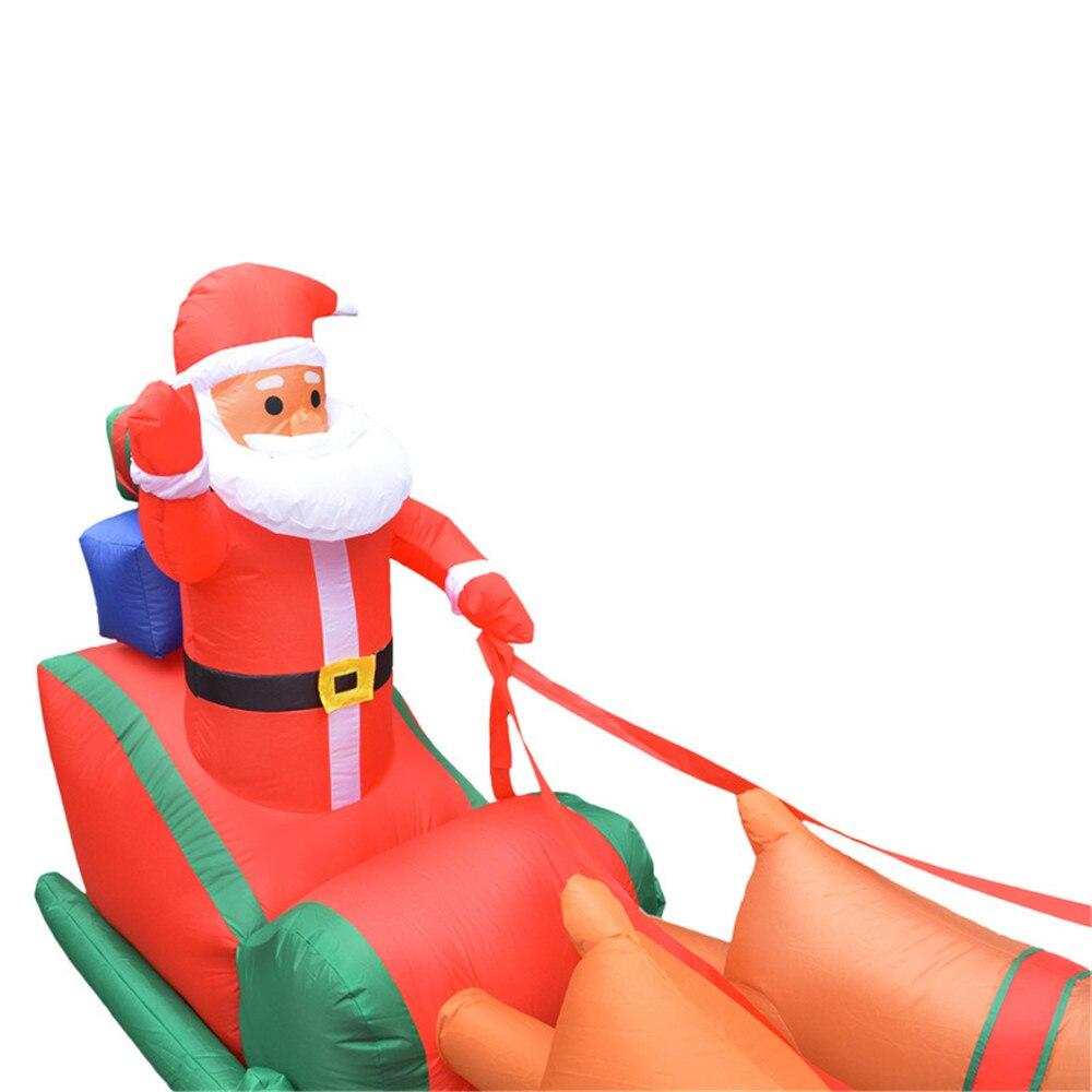 Natal inflável veados carrinho de natal duplo veados carrinho papai noel natal vestir se decorações bem vindo adereços - 5