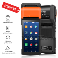 Protable Android 7.1 Rugged PDA Handheld POS Printer 58mm Terminal Sunmi V2 PDA 4G WiFi Bluetooth with Camera speaker Receipt Pr