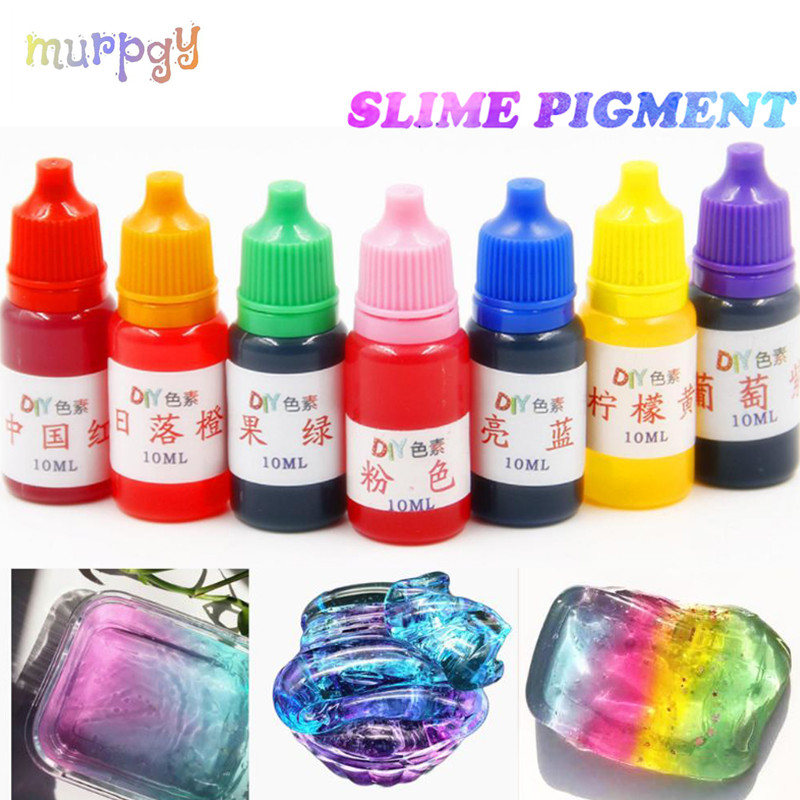 10ml Diy Pigment Liquid Additive For Slime Clear Liquid Making Slime Glue Kit Polymer Clay Model Art Crystal Mud Toys For Kids