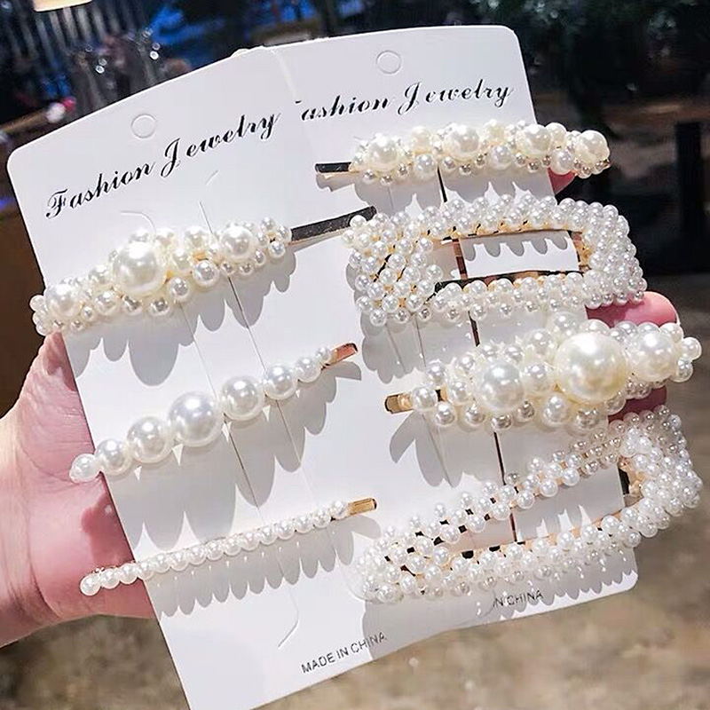 Luxury Big Simulated Pearl Barrettes Hairclip For Women Fashion Jewelry Hair Accessories Wedding Hairgrip Pins Headdress 2019