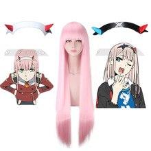 Popular anime darling no código franxx 002 diabo vermelho chifre headdress deformação grampo de cabelo cosplay adereços decorativos